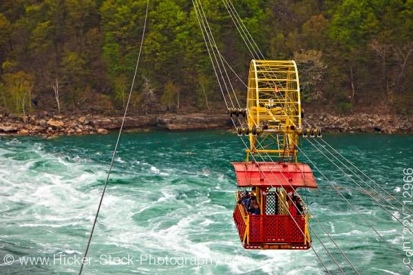 Stock photo of Spanish Aero Car Whirlpool Rapids of the Niagara River Niagara River Parkway Ontario Canada