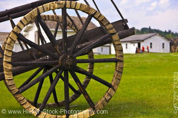 Stock photo of Spoke wheels Fort Walsh National Historic Site Cypress Hills Interprovincial Park Saskatchewan