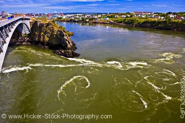 Stock photo of Reversing Falls St John River St John Bay of Fundy Fundy Coastal Drive New Brunswick
