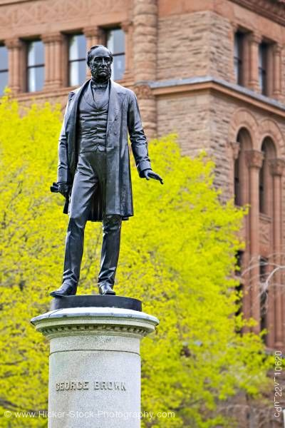 Stock photo of Statue Honorable George Brown Ontario Legislative Building Toronto