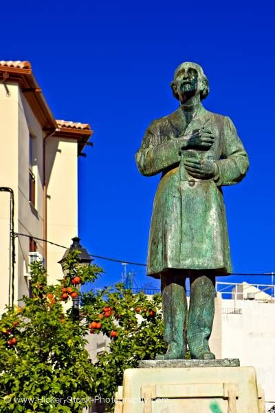 Stock photo of Statue in Plaza San Juan in district of San Juan City of Jaen Province of Jaen Andalusia Spain