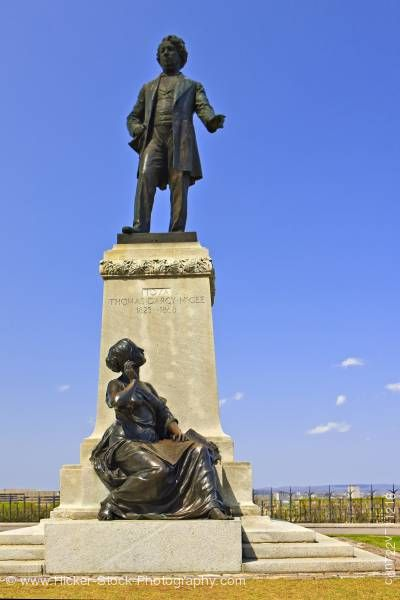 Stock photo of Statue Thomas D'Arcy McGee Parliament Hill Ottawa Ontario Canada