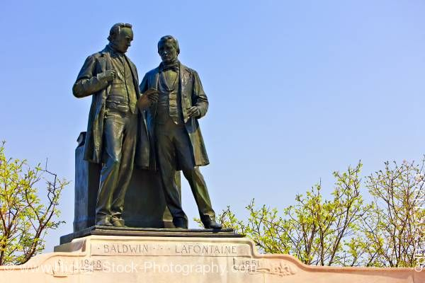 Stock photo of Statues of Robert Baldwin and Sir Louis-Hippolyte Lafontaine Ottawa