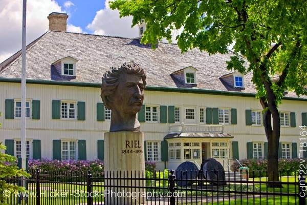 Stock photo of Statue of Louis A. Riel Saint Boniface Museum Winnipeg Manitoba Canada
