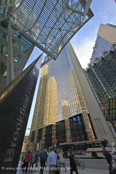 Stock photo of Brookfield Place High Rise Buildings Downtown Toronto Ontairo Canada