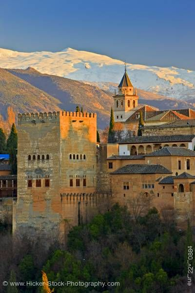 Stock photo of The Alhambra Mirador de San Nicolas Albayzin City Granada Andalusia