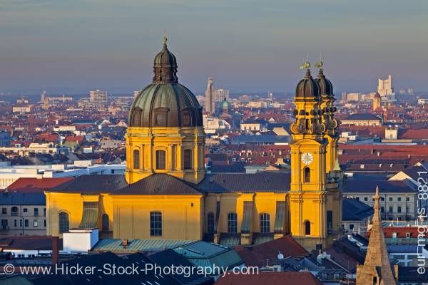 Stock photo of Theatinerkirche St. Kajetan (Theatine Church of St Cajetan) city of Munich