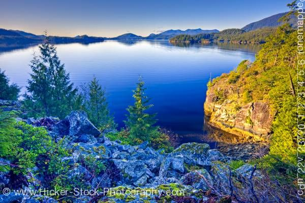 Stock photo of Tofino Inlet Scenery Vancouver Island British Columbia
