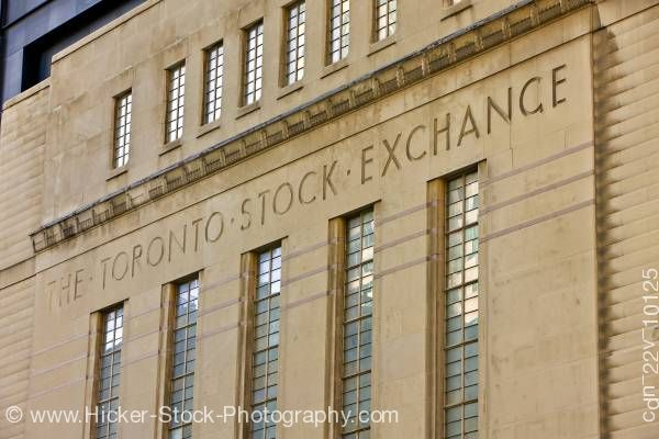 Stock photo of Former Toronto Stock Exchange Building Ontario Canada