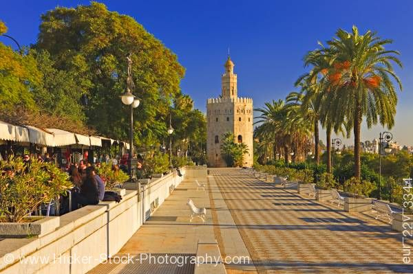 Stock photo of Tourist attraction Torre del Oro Sevilla