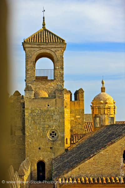 Stock photo of Tower Alcazar de los Reyes Cristianos City of Cordoba Province of Cordoba Andalusia Spain