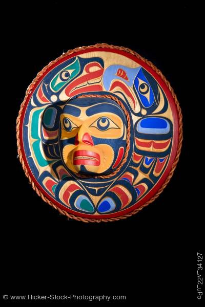 Stock photo of Eagle Sea Lion Mask Trevor Hunt Kwagiulth First Nations Artist British Columbia Canada