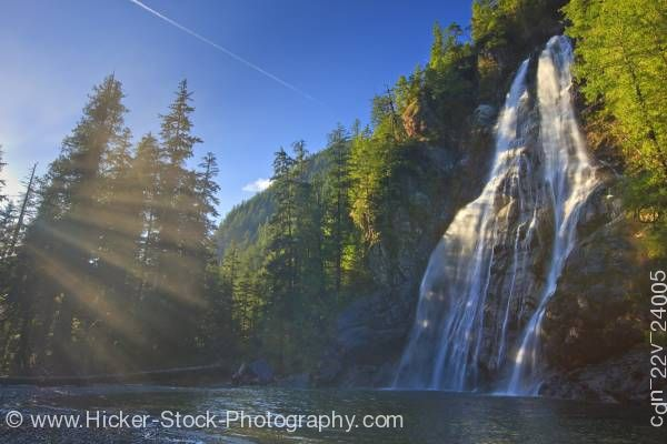 Stock photo of Virgin Falls Tofino Creek Vancouver Island British Columbia Canada