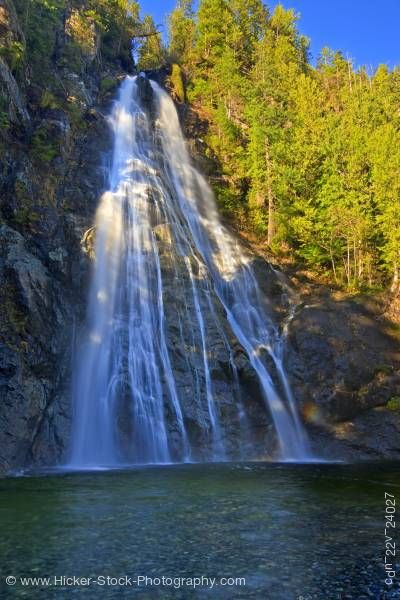 Stock photo of Virgin Falls Tofino Creek Clayoquot Sound UNESCO Biosphere Reserve British Columbia Canada