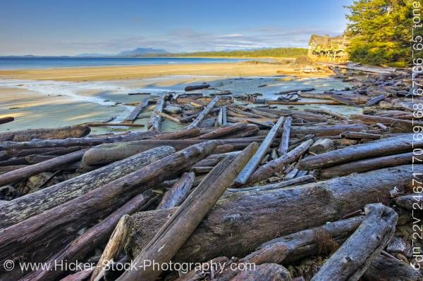 Stock photo of Wickaninnish Interpretive Centre Wickaninnish Beach Vancouver Island British Columbia Canada