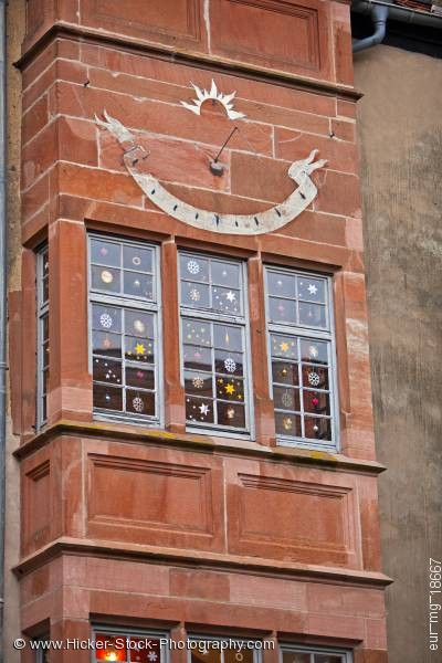 Stock photo of Window decoration building Burg Ronneburg Germany