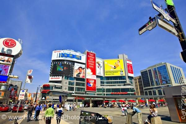 Stock photo of Yonge Dundas Square Downtown Toronto City Ontario Canada